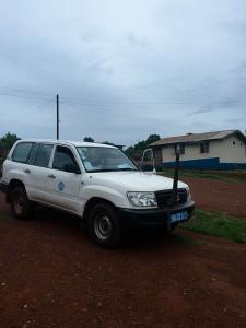 Coches de la OMS en Freetown